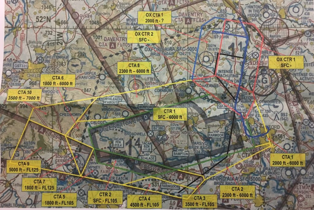 Oxford airport / RAF Brize Norton draft airspace design and BGA response Aug 17