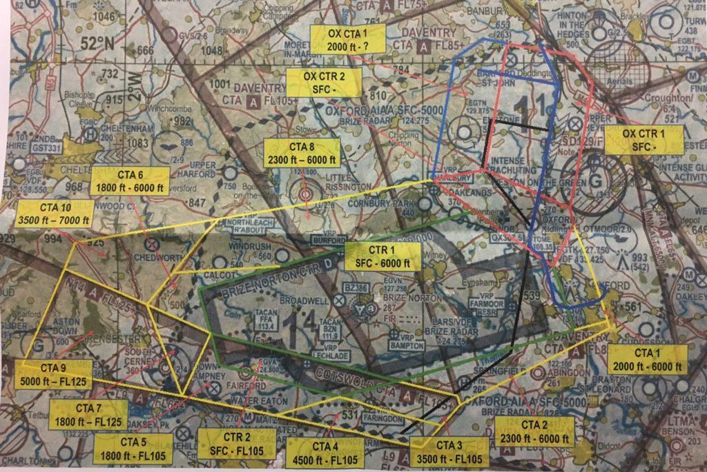 Oxford airport / RAF Brize Norton draft airspace design and BGA response Aug 17